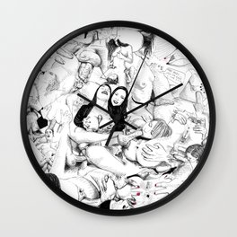 sex collage Wall Clock