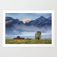 Teton Morning. Art Print
