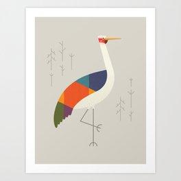 Brolga Art Print