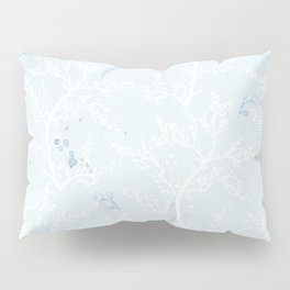 Japan Sakura Flowers - Blue Romance Pillow Sham