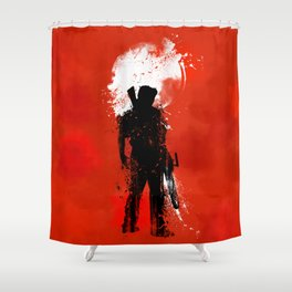 White Moon Shower Curtain