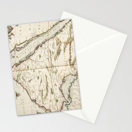 Vintage Map of Saudi Arabia (1662) Stationery Cards