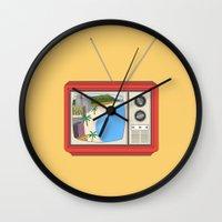 hawaiian Wall Clocks featuring Hawaiian TV by uzualsunday