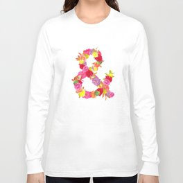 Flower Ampersand Long Sleeve T-shirt