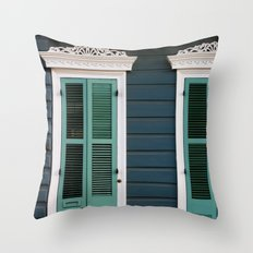 Creole Cottage Throw Pillow