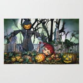 Zombie Pumpkin Chomper Rug