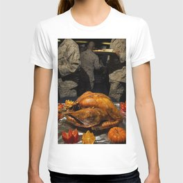 Thanksgiving Turkey for US Military Servicemen  T-shirt