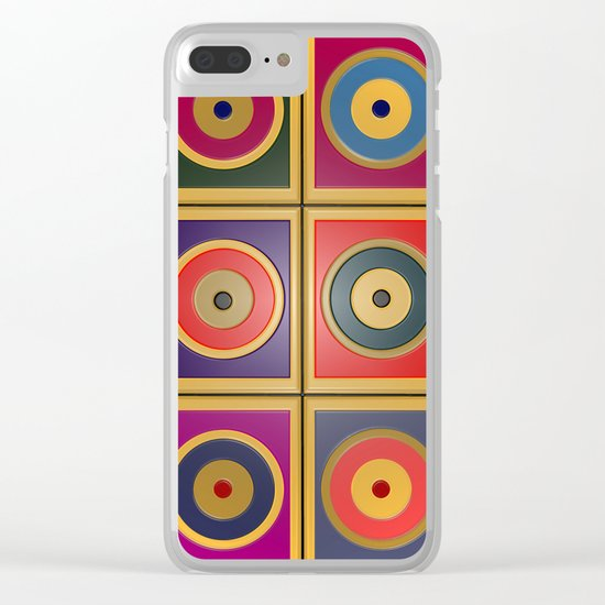 Rectangles & Circles #3 Clear iPhone Case