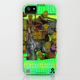 Mysticx & Magick - The Elementals: The Gaian Tribe of the Collective Earthly Divine iPhone Case