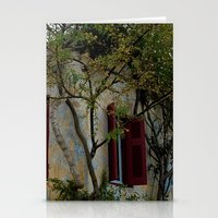 greek Stationery Cards featuring Greek Cottage by Upperleft Studios