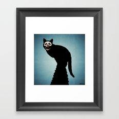 Skullcat Framed Art Print