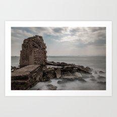 Akko ruins, long exposure Art Print