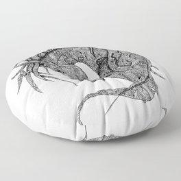 Zentangle Horse Artwork Floor Pillow