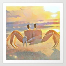 Sun Crabby Art Print
