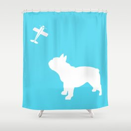 French Bull dog art Shower Curtain