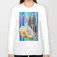 cookies Long Sleeve T-shirts featuring COOKIES! by Aldo Couture
