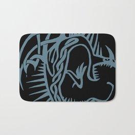 Celtic Knotwork Deadly Nadder (Blue) Bath Mat