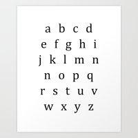 Classic Alphabet Lowercase Sign Art Print
