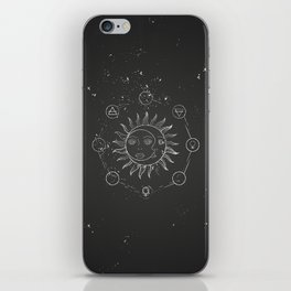 Moon, sun and elements iPhone Skin