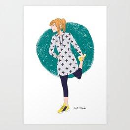 Grey Hoodie Art Print