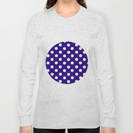 Polka Dot Party in Blue and White Long Sleeve T-shirt