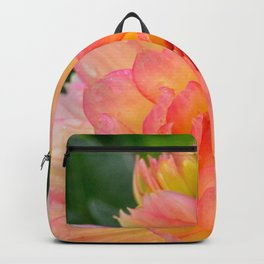 """""""Coral Tipped"""" Dahlia by Teresa Thompson Backpack"""