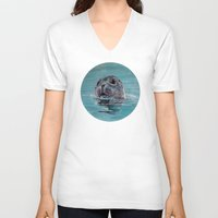 seal V-neck T-shirts featuring seal by ARTito