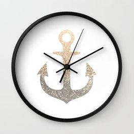 GOLD ANCHOR Wall Clock