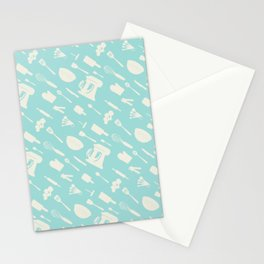 In The Kitchen — Turquoise Stationery Cards