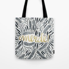 Pardon My French – Black & Gold Tote Bag