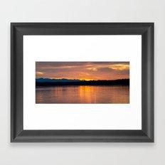 SUNSET LAKE Framed Art Print