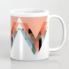 Three Triangles Geometric in Coral Mug