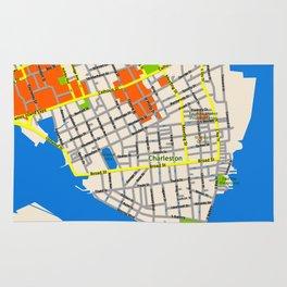 Map of Charleston, SC Rug