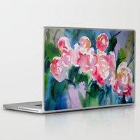 peonies Laptop & iPad Skins featuring Peonies by Vanessa Birley Designs