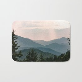 Smoky Mountain Pastel Sunset Bath Mat