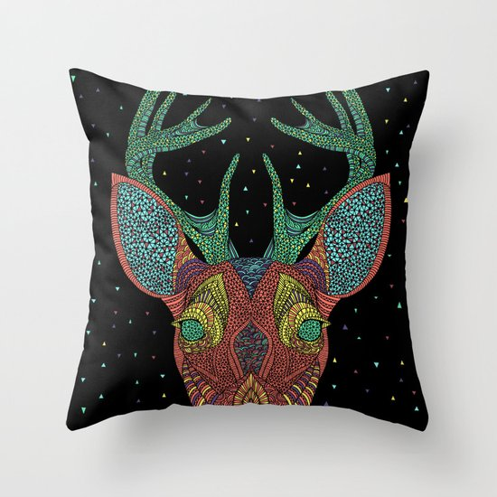 Intergalactic Deer Throw Pillow