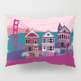San FranciscoPainted Ladies and Golden Gate Pillow Sham