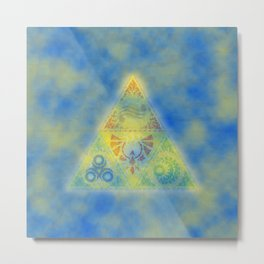 Zelda Triangle Triforce Metal Print