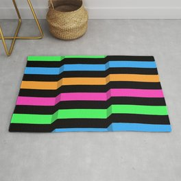 Original Geometric Op Art Design Rug