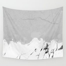 White marble spill on concrete Wall Tapestry