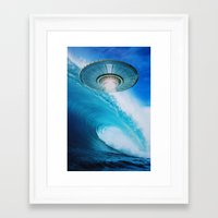 ufo Framed Art Prints featuring UFO by John Turck