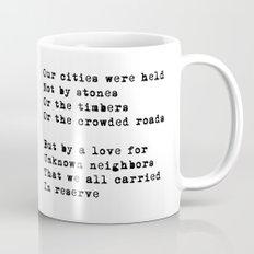 Our Cities (poem) Mug