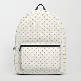 Small Gold Watercolor Polka Dot Pattern Backpack