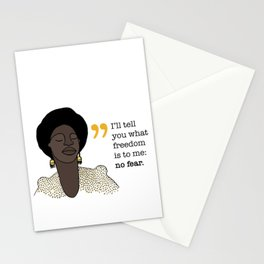 No fear / Nina Simone Stationery Cards