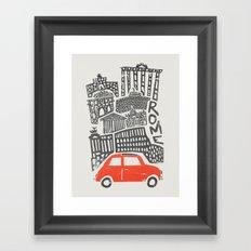 Rome Cityscape Framed Art Print