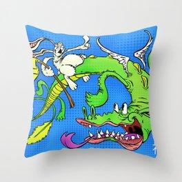 The Luck Dragon Throw Pillow