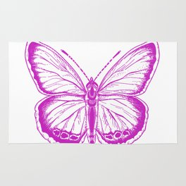 Butterfly - Violet - Beautiful - purple Rug