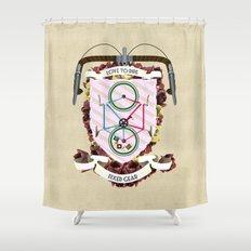 Love to Ride My Fixed Gear Bike Shower Curtain