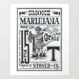 SMOKE MARIJUANA Art Print