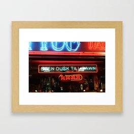 Open Dusk Till Dawn Framed Art Print
